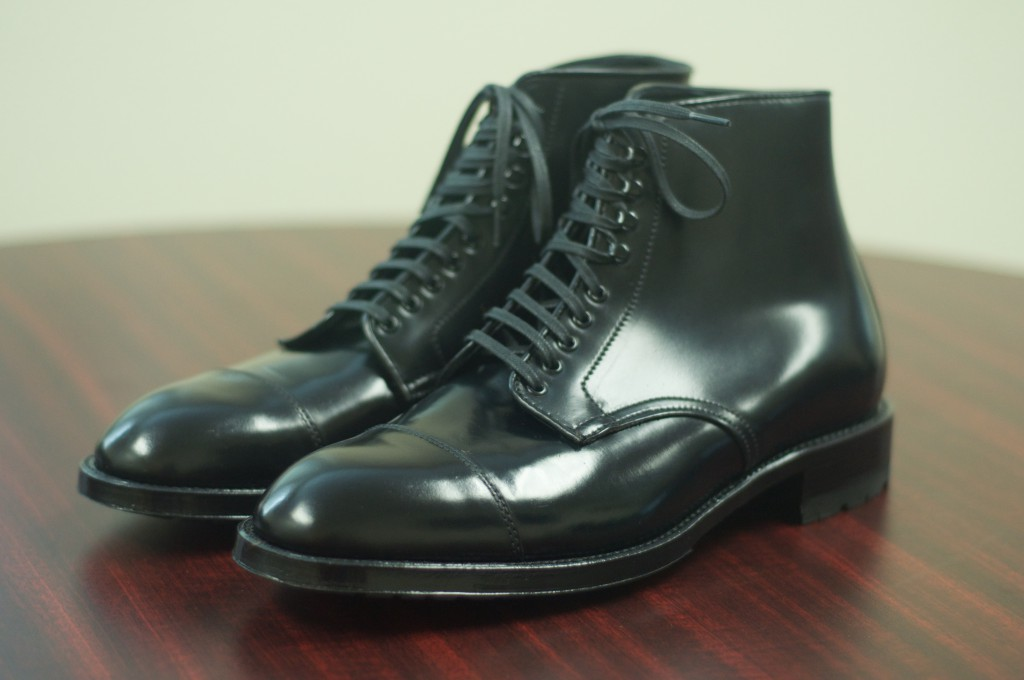 Alden Black Shell Captoe Boots - 2