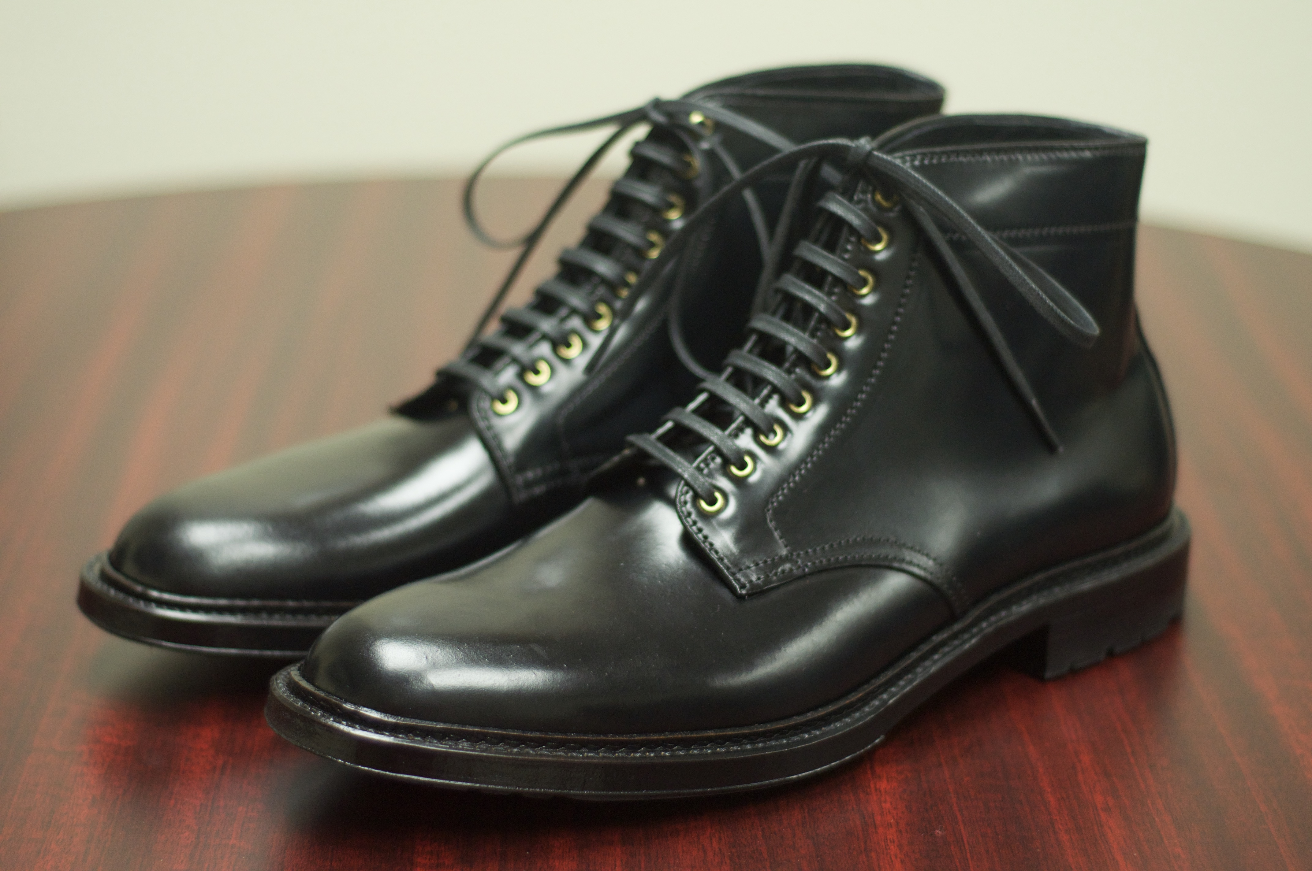 Black shell cordovan alden of san diego for The alden