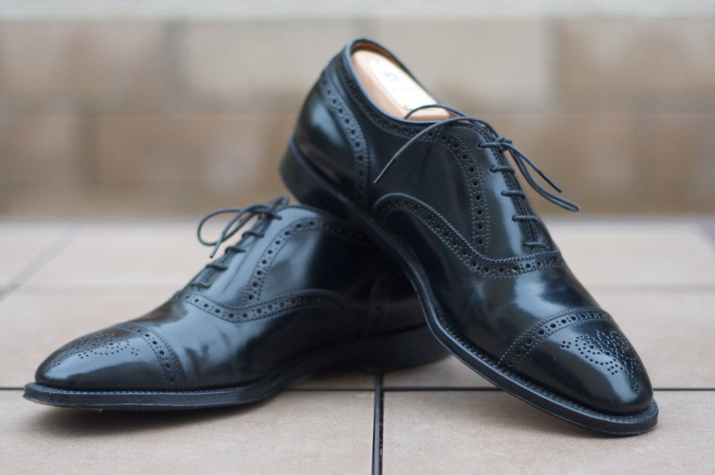 Alden Black Shell Semi-Brogue - For Sale - 6