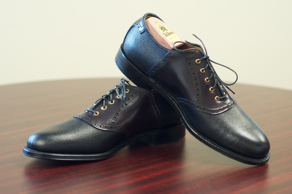 Alden Color 8 and Black Grain Saddle - 5