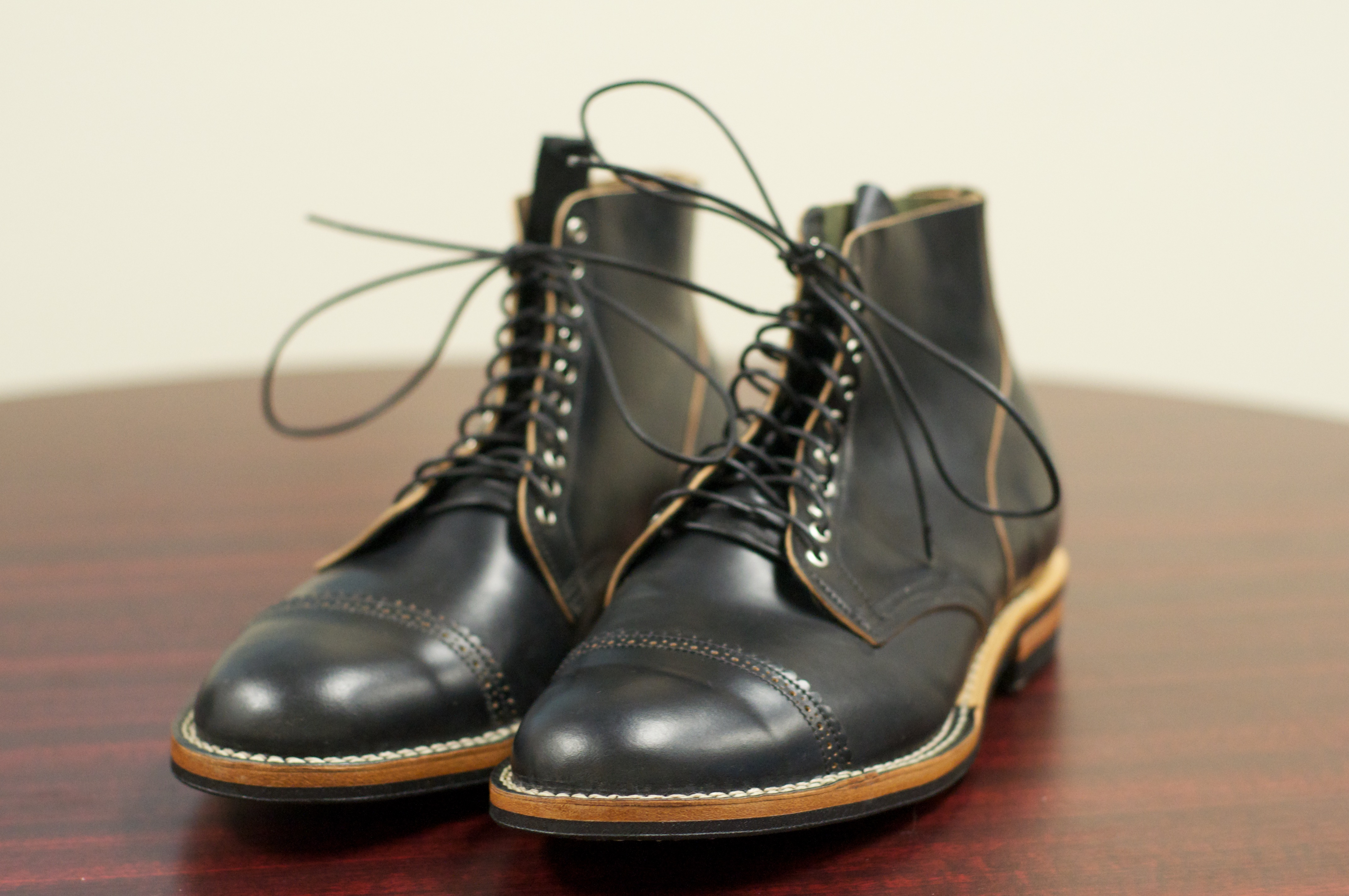 54e610cf61d SOLD: Viberg Boots in Black Shell Cordovan – 10.5D – Alden of San Diego