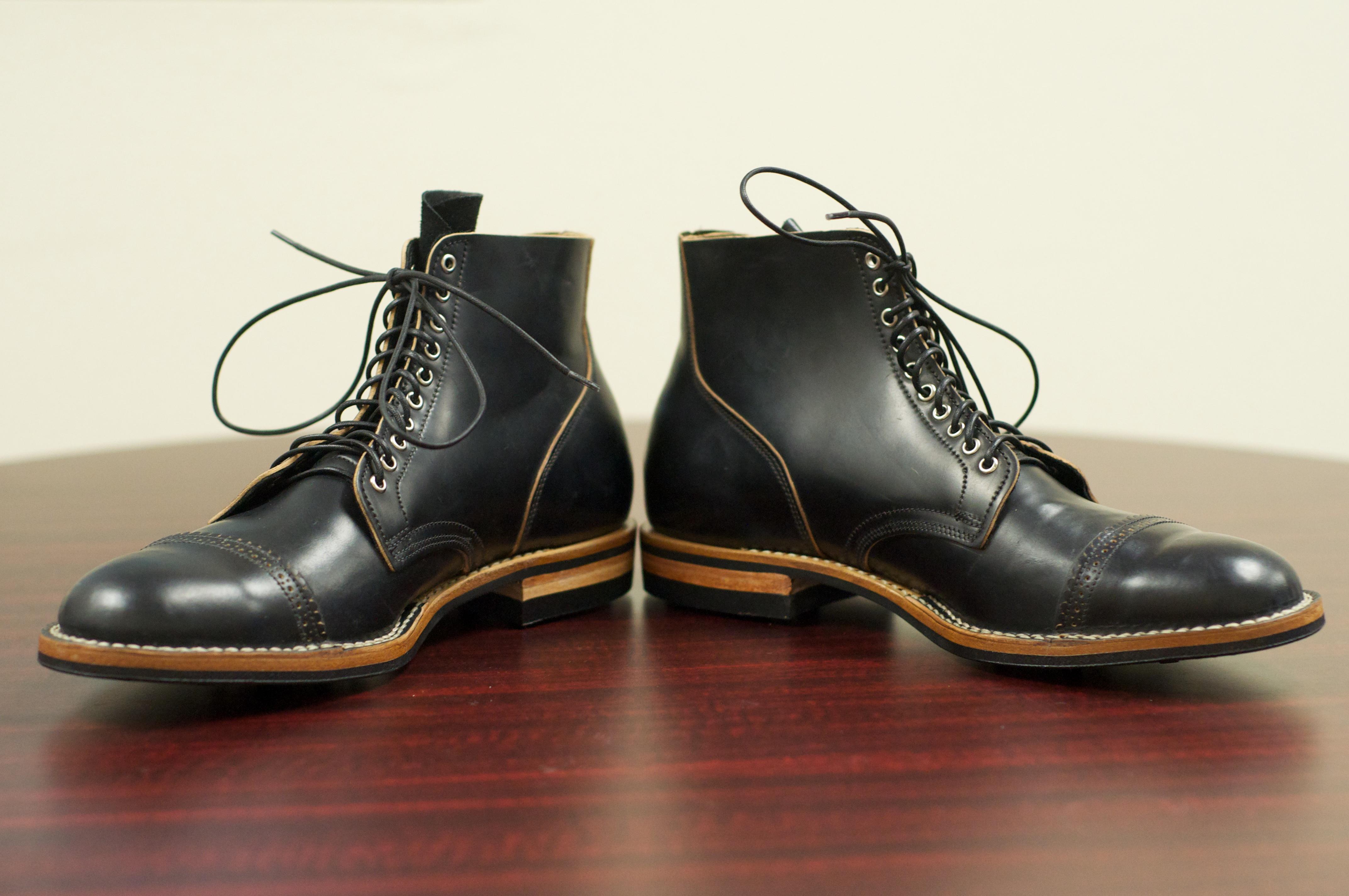 SOLD: Viberg Boots in Black Shell Cordovan – 10.5D – Alden ...