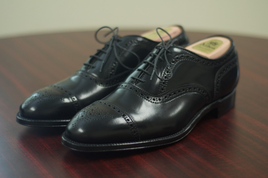 Alden Black Shell Semi-Brogue - 1
