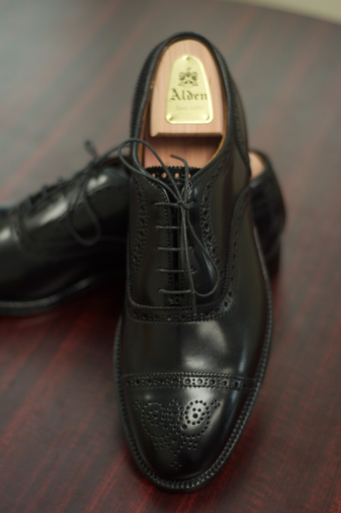Alden Black Shell Semi-Brogue - 10
