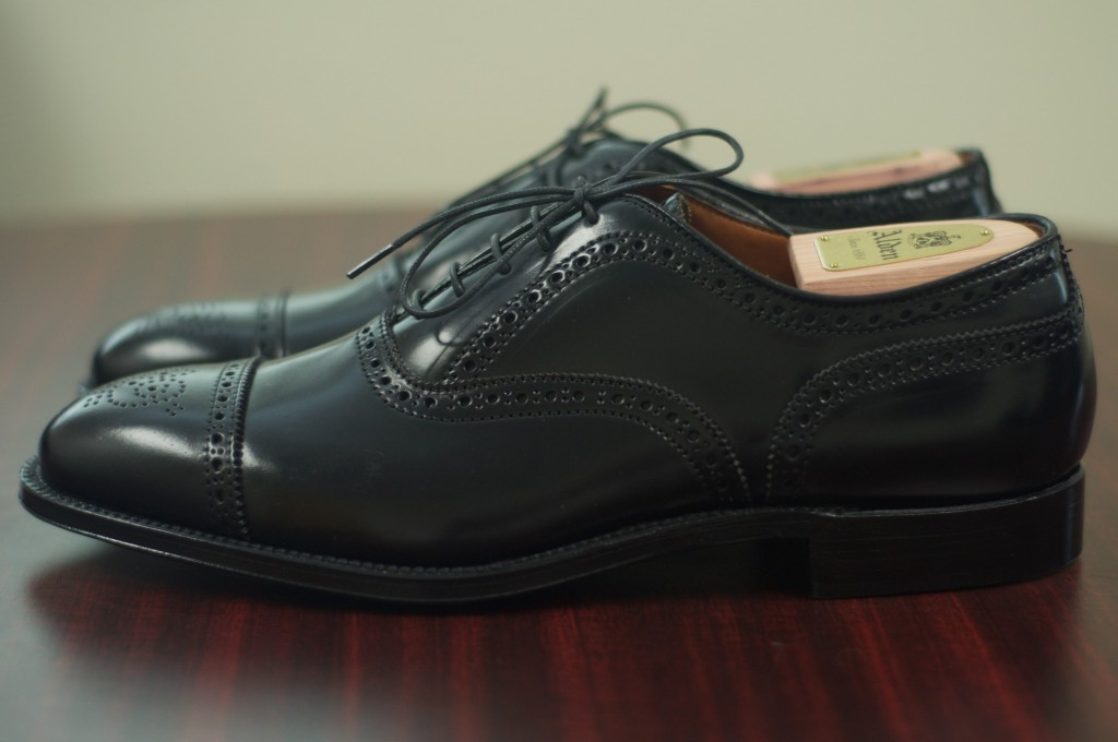 Alden Black Shell Semi-Brogue - 2