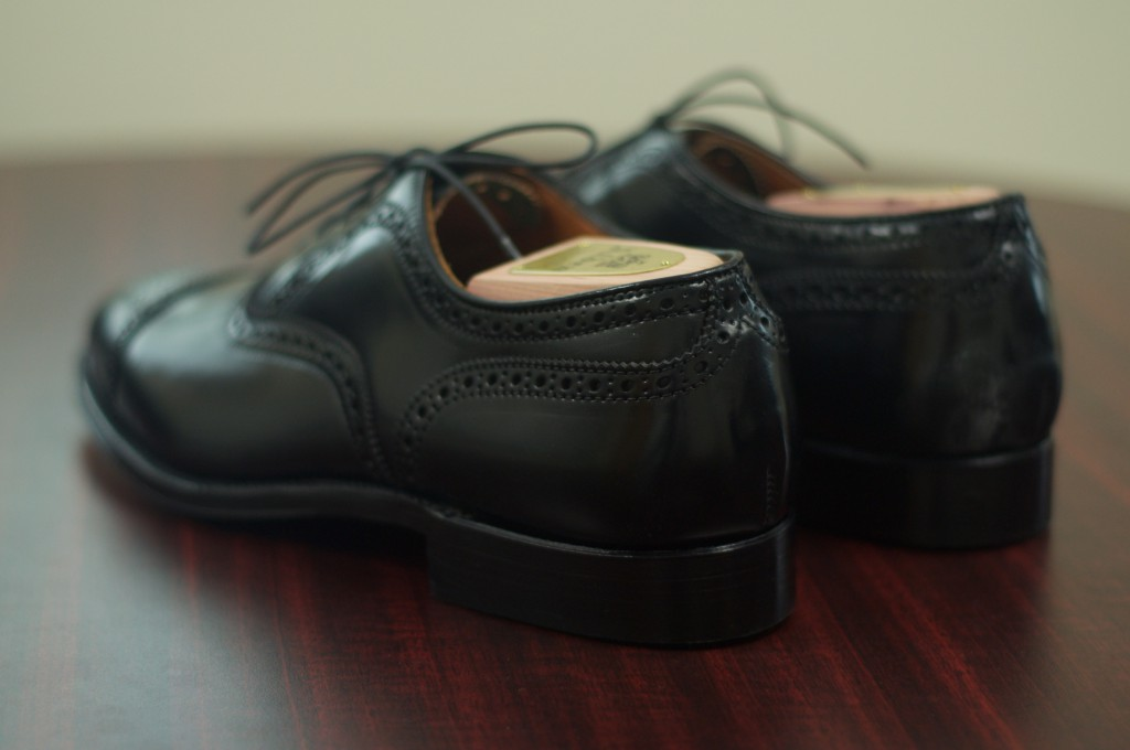 Alden Black Shell Semi-Brogue - 3