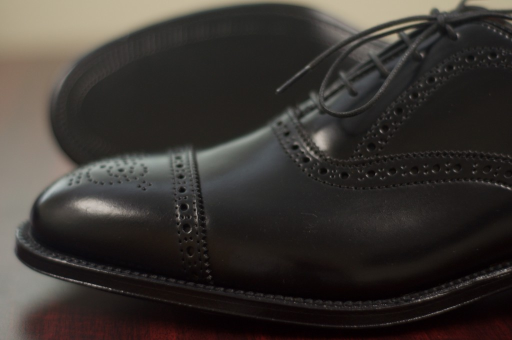 Alden Black Shell Semi-Brogue - 5