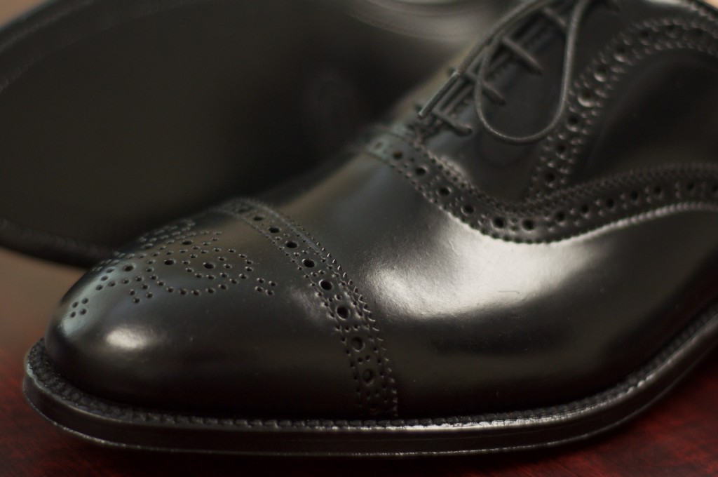 Alden Black Shell Semi-Brogue - 6