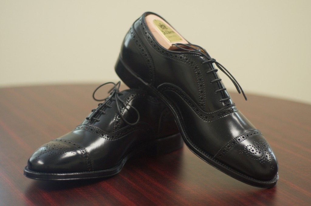 Alden Black Shell Semi-Brogue - 7