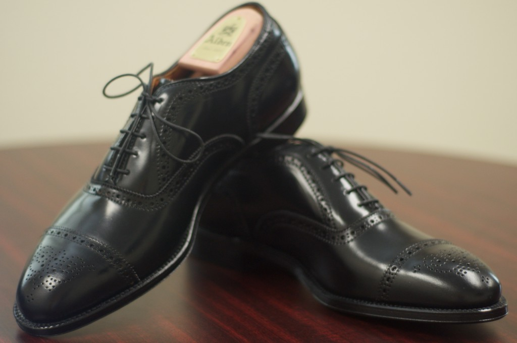 Alden Black Shell Semi-Brogue - 8