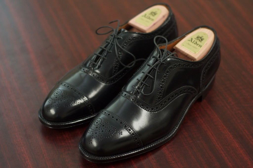 Alden Black Shell Semi-Brogue - 9