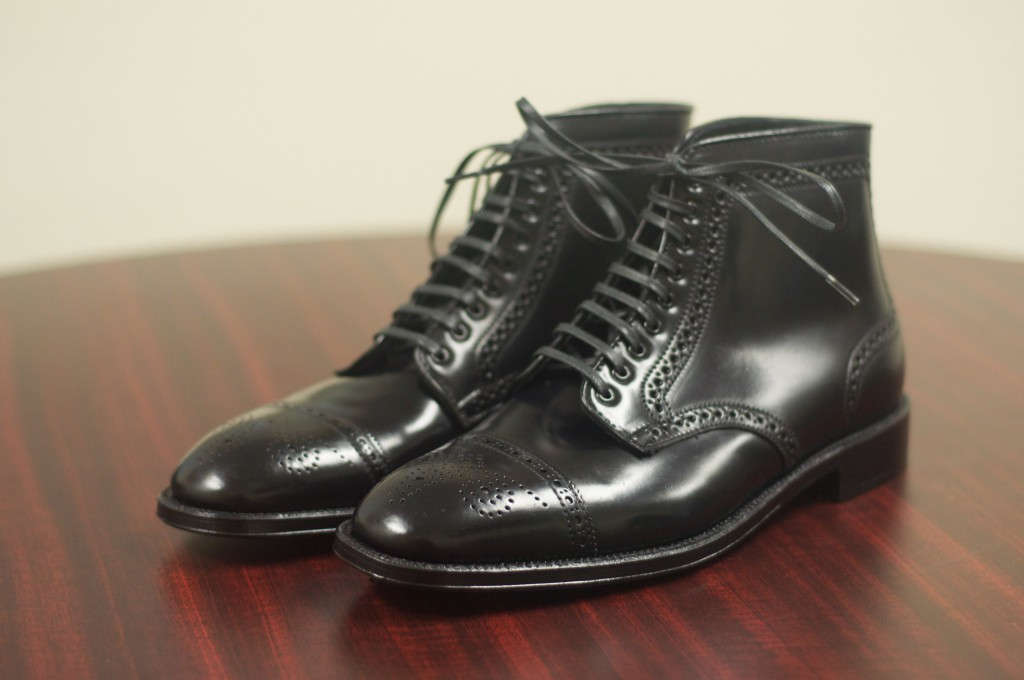 Alden Black Semi-Brogue Boot - 1
