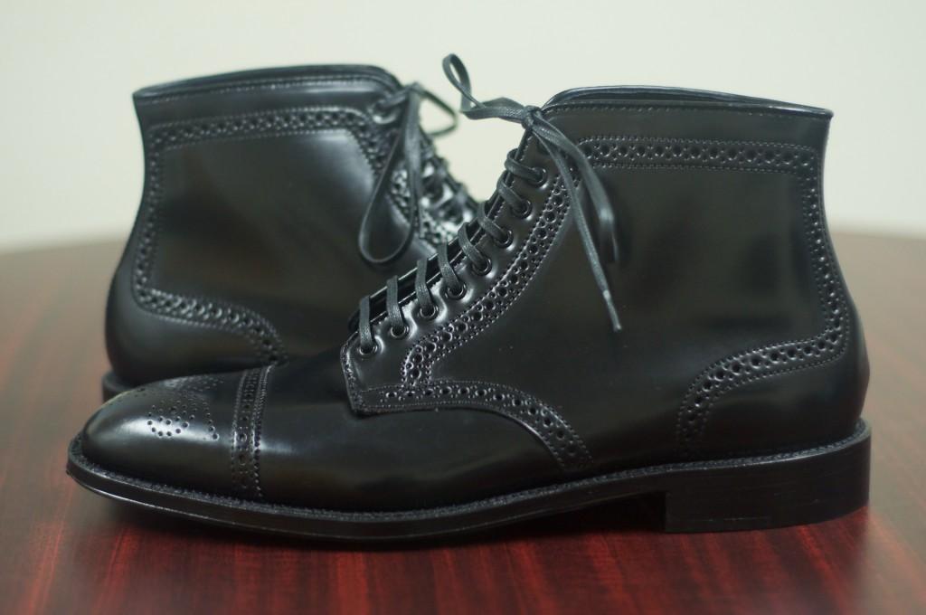 Alden Black Semi-Brogue Boot - 10