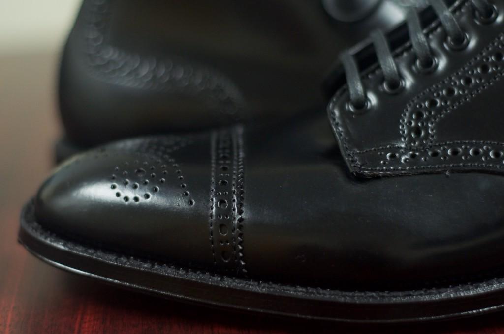 Alden Black Semi-Brogue Boot - 11