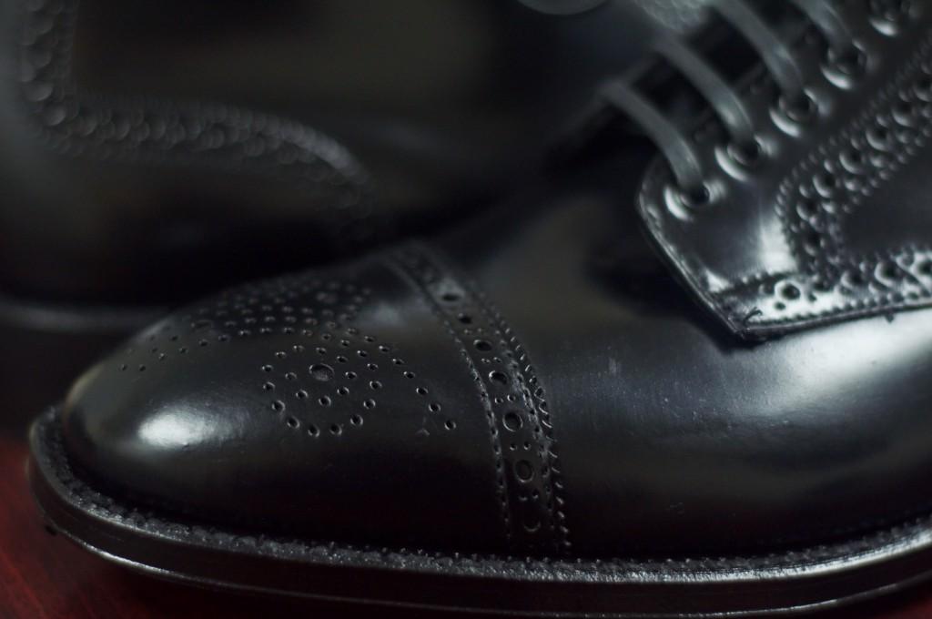 Alden Black Semi-Brogue Boot - 12