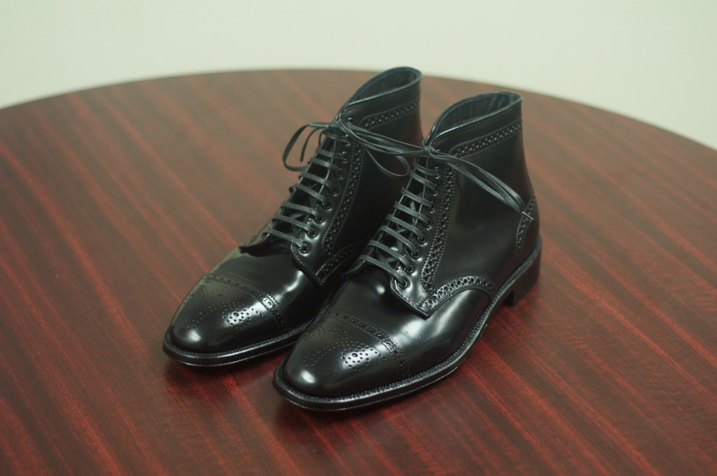 Alden Black Semi-Brogue Boot - 2