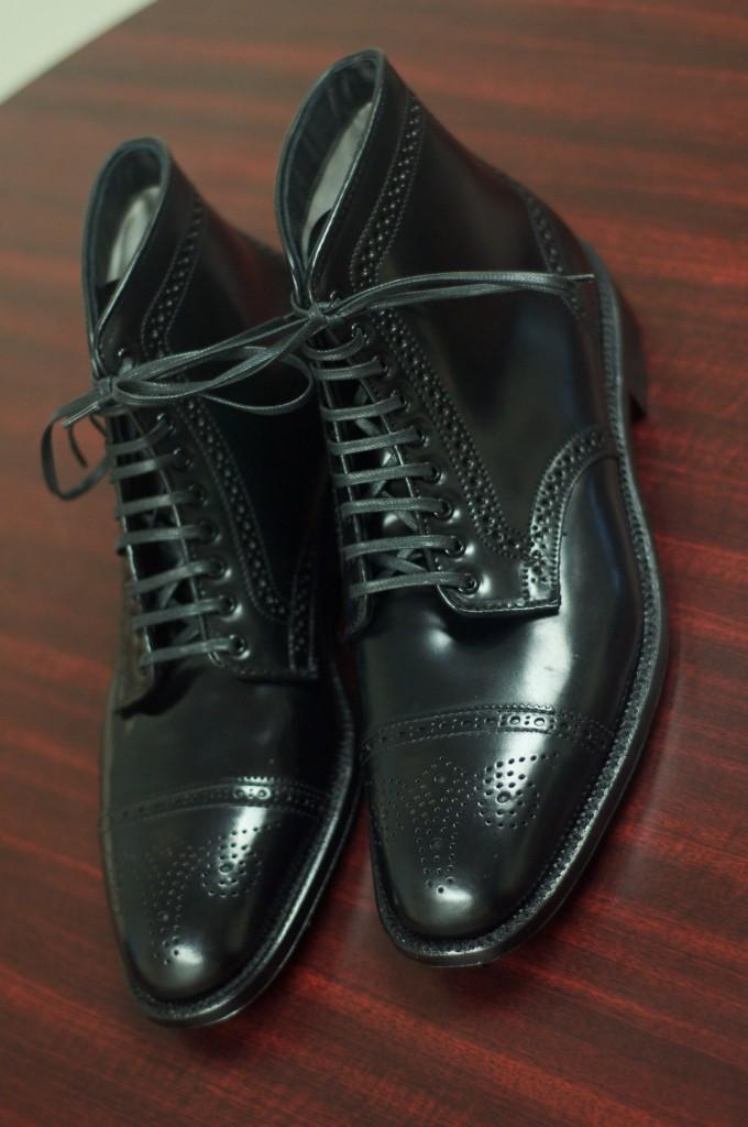 Alden Black Semi-Brogue Boot - 3