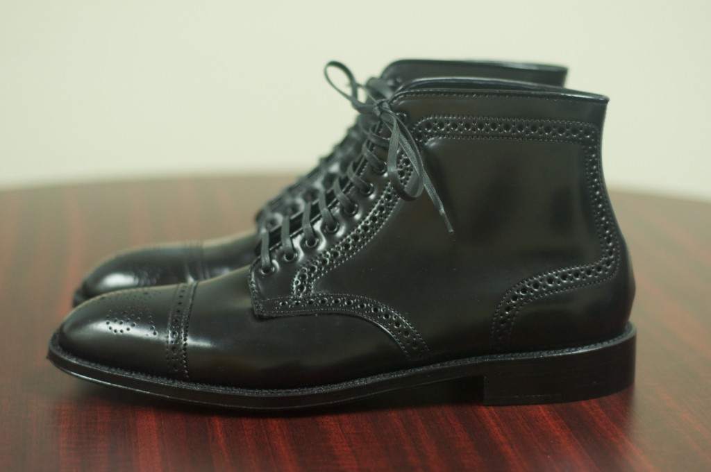 Alden Black Semi-Brogue Boot - 4