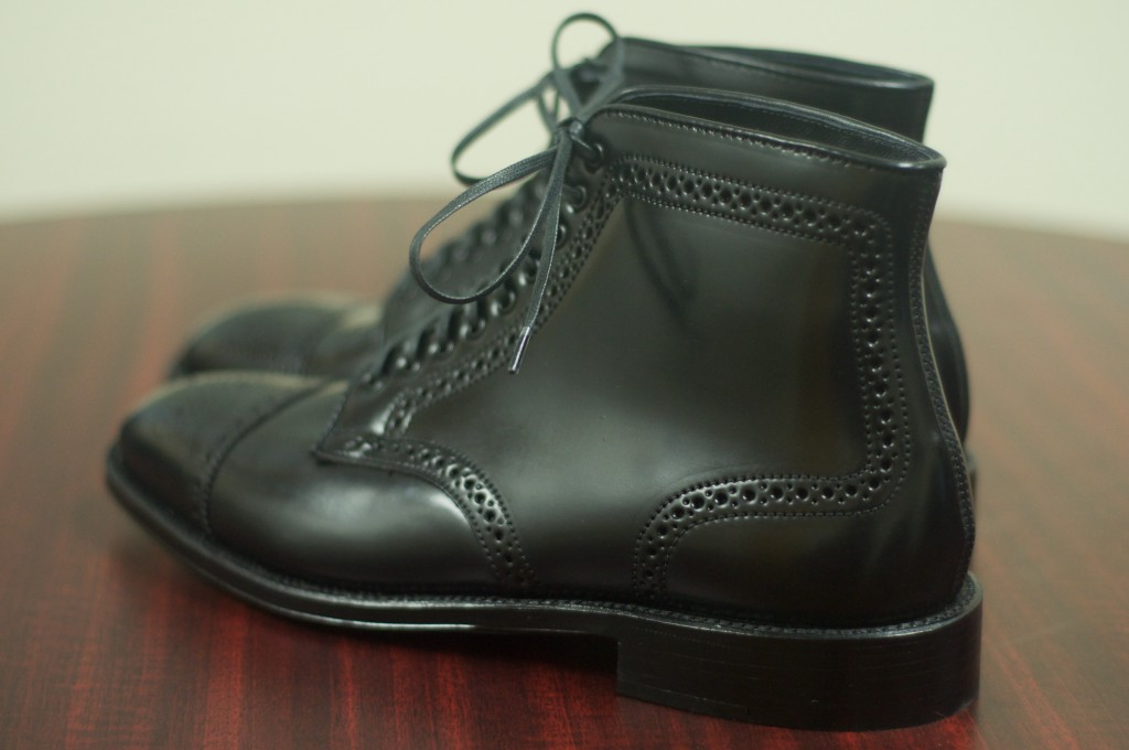 Alden Black Semi-Brogue Boot - 5