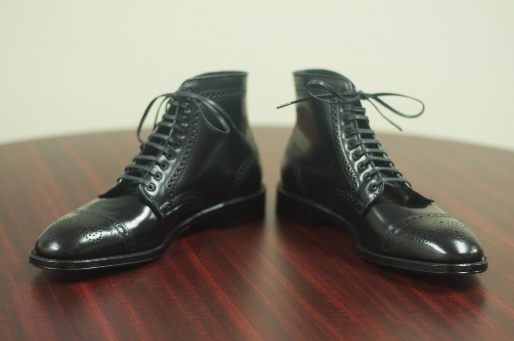 Alden Black Semi-Brogue Boot - 6