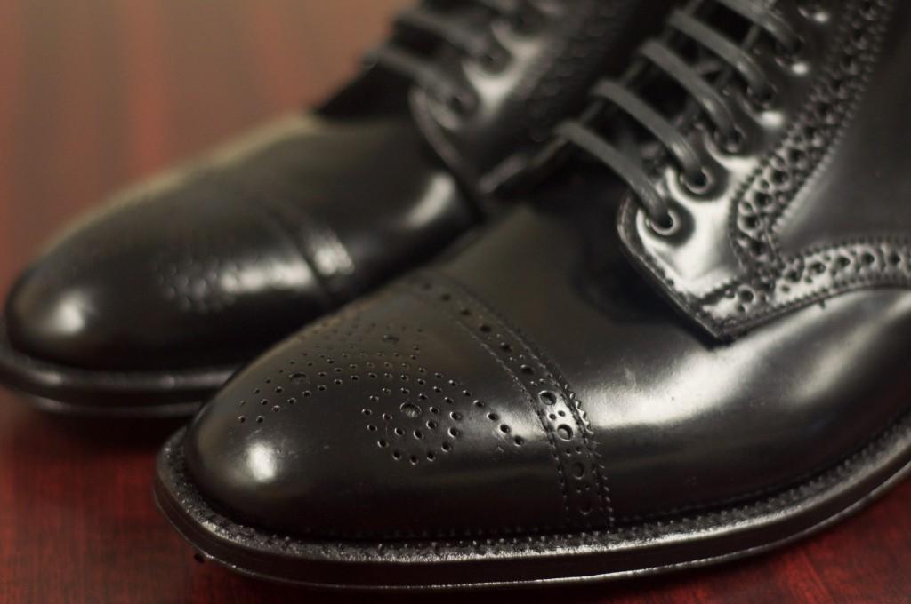 Alden Black Semi-Brogue Boot - 7