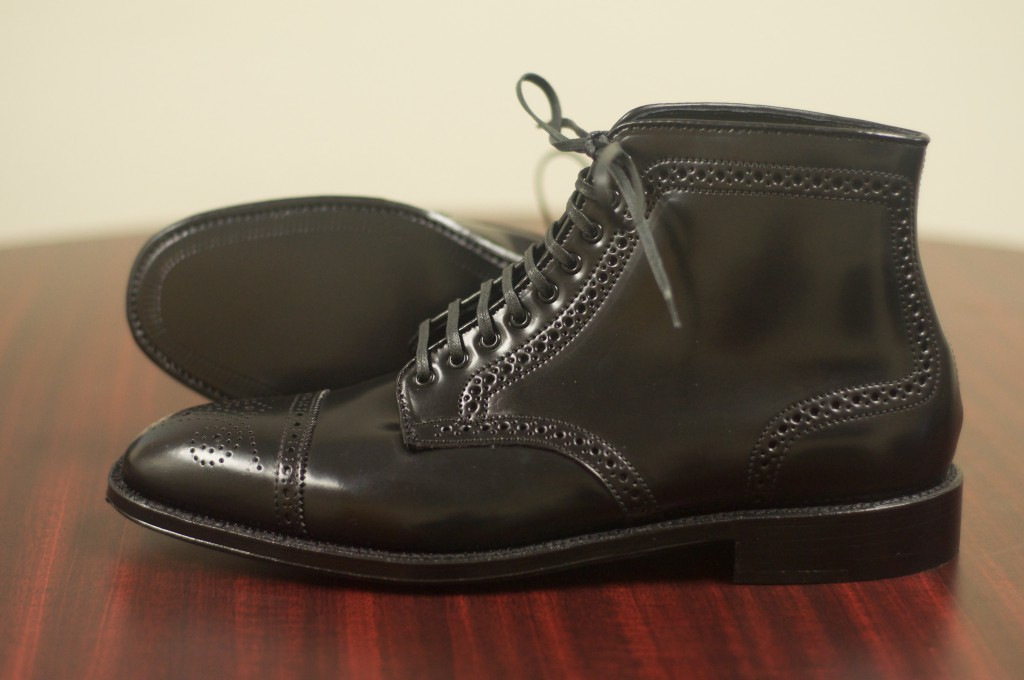 Alden Black Semi-Brogue Boot - 8
