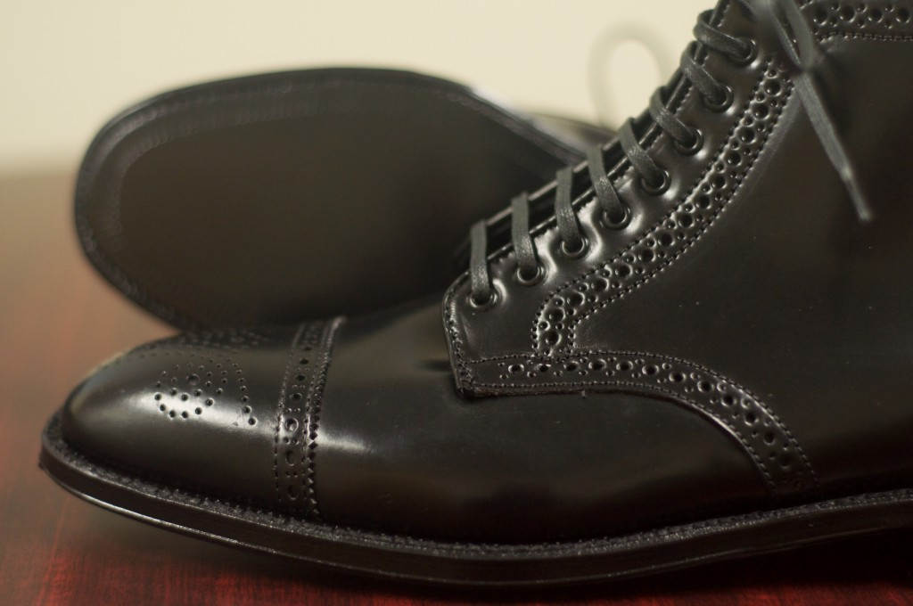 Alden Black Semi-Brogue Boot - 9