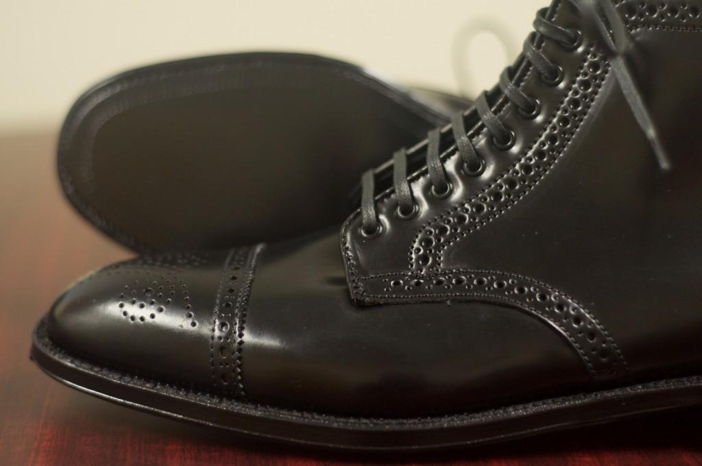 Alden Black Semi-Brogue Boot - 9