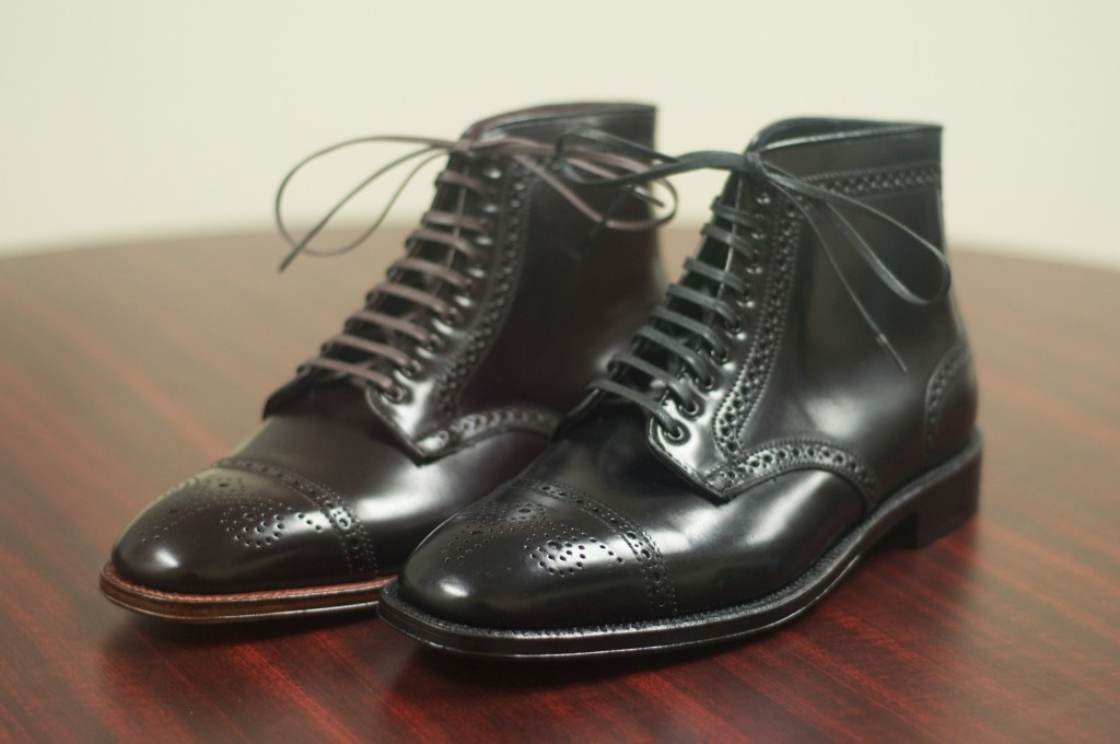 Black and Color 8 Semi-Brogue Boot - 1