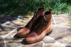 For Sale: Allen Edmonds Natural Shell Cordovan and Snuff Suede Eagle Country Boots – Size 10.5D