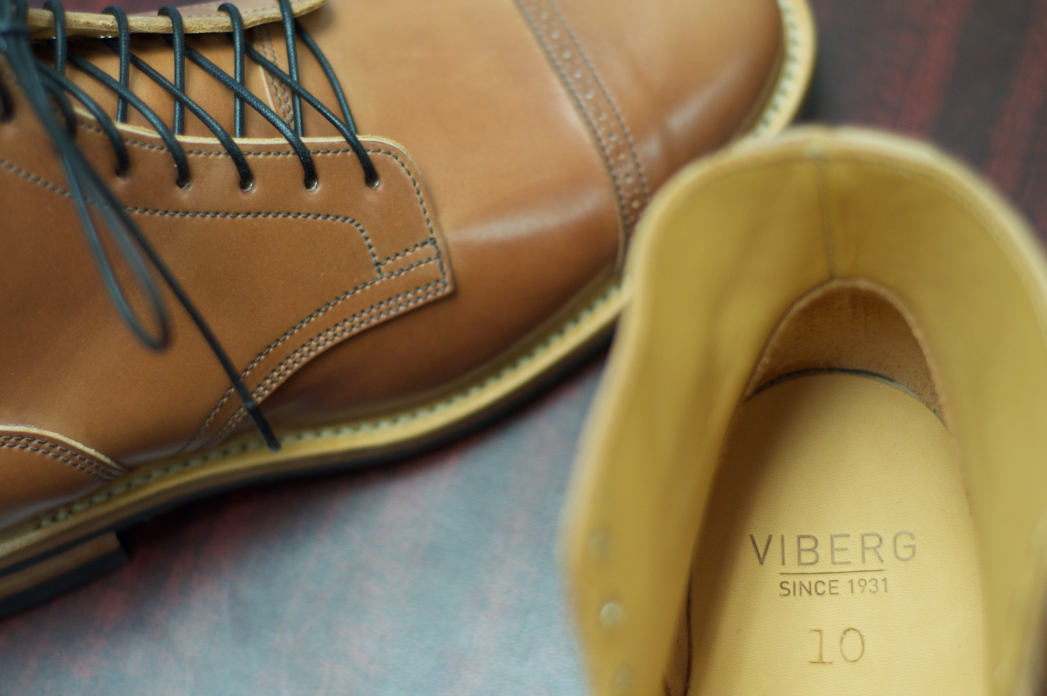 Sold Viberg Natural Shell Cordovan Service Boot Viberg