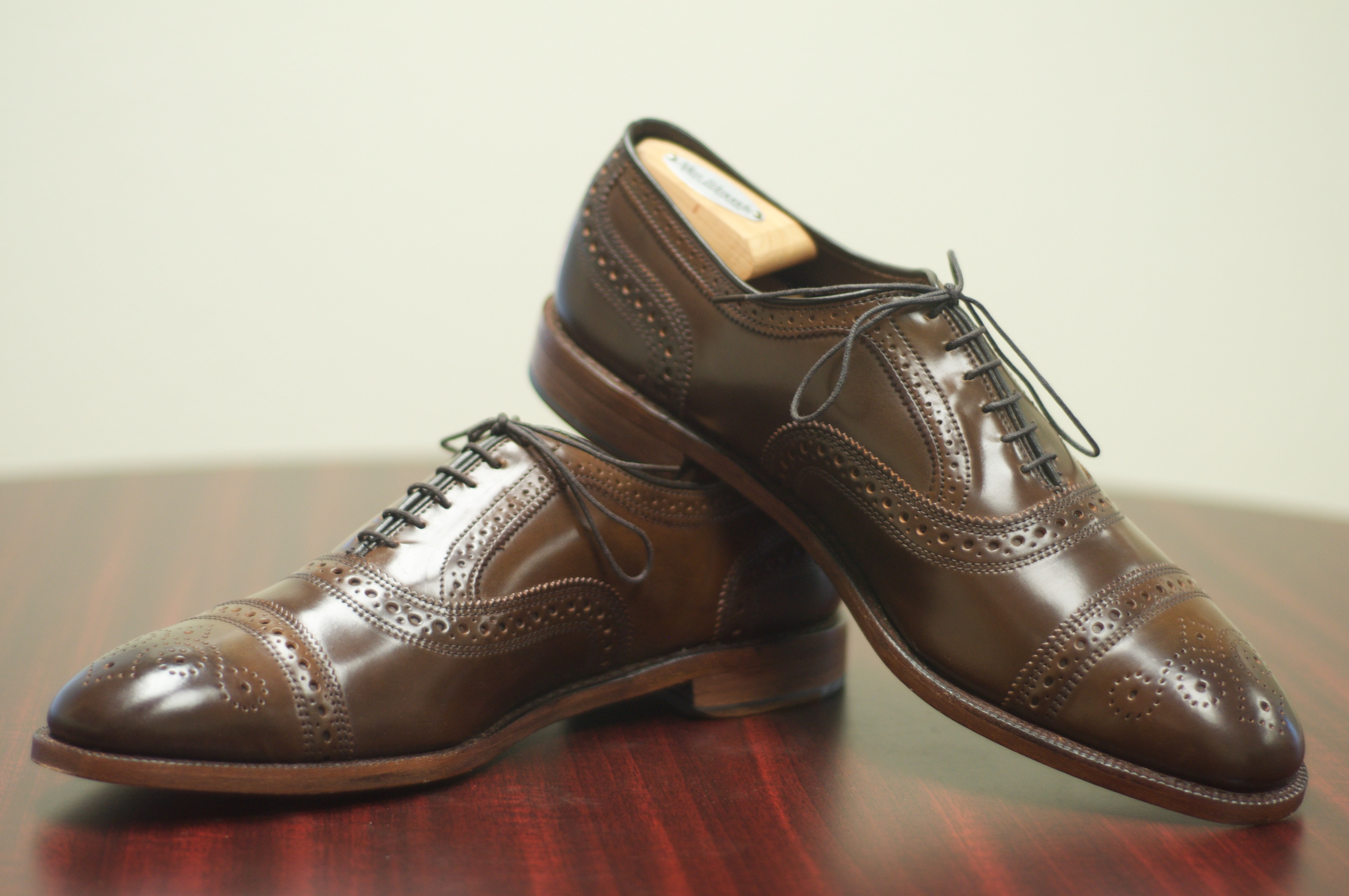 f6401cd4a34 SOLD  Allen Edmonds Brown Shell Cordovan Strand – Size 10.5D – Alden of San  Diego