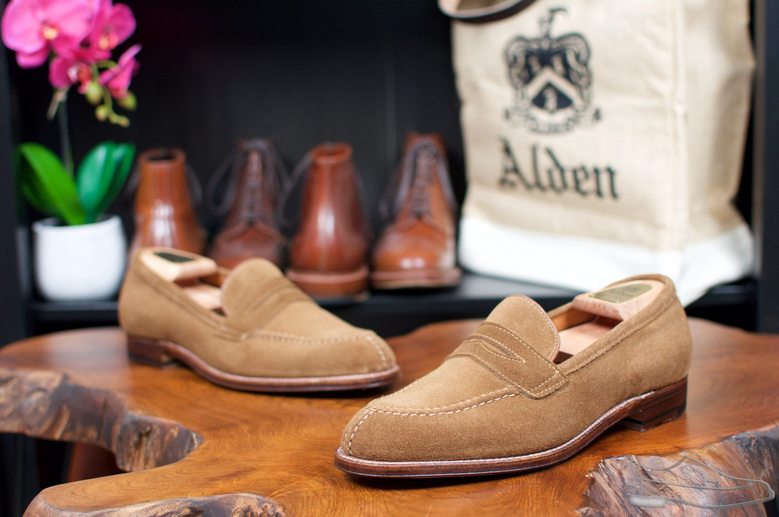 Alden Snuff Suede NST Loafers