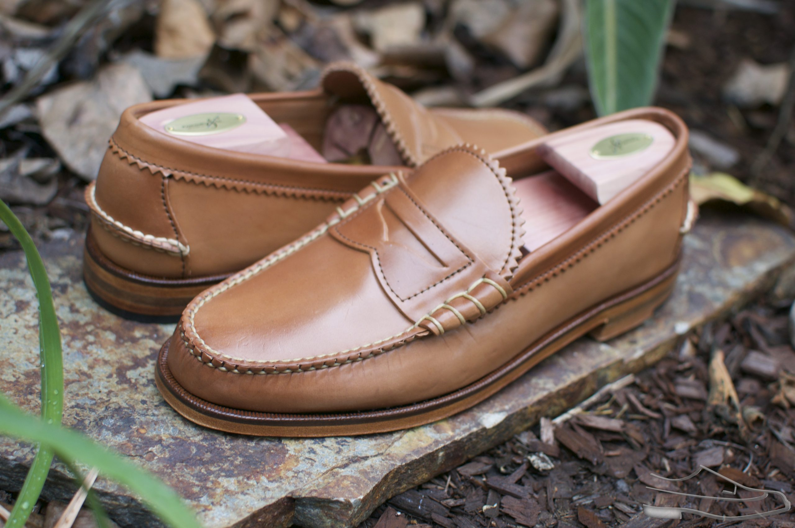 Rancourt Natural Shell Cordovan Beefroll Loafer