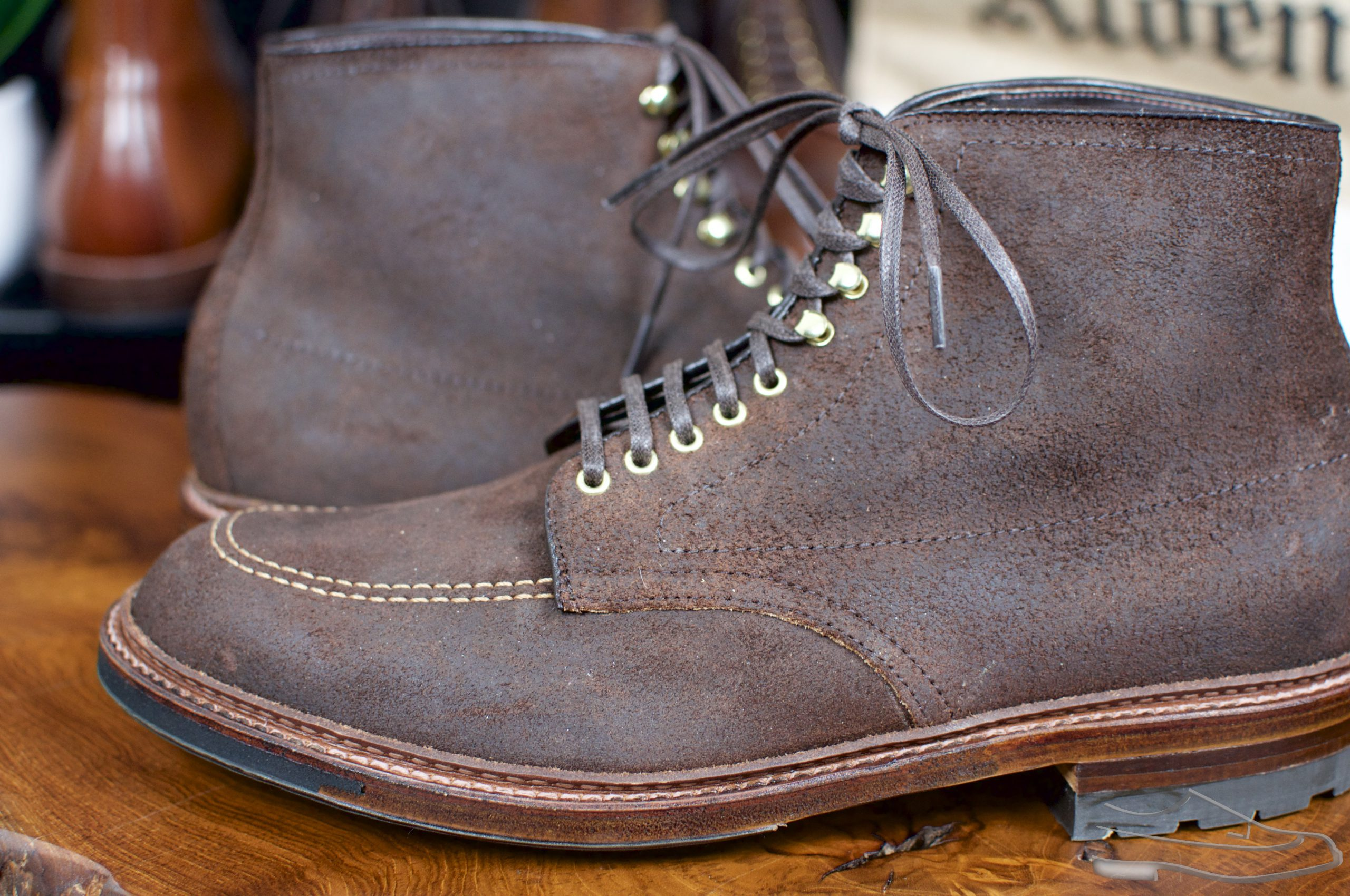 Alden Tobacco Reverse Chamois Indy Boots