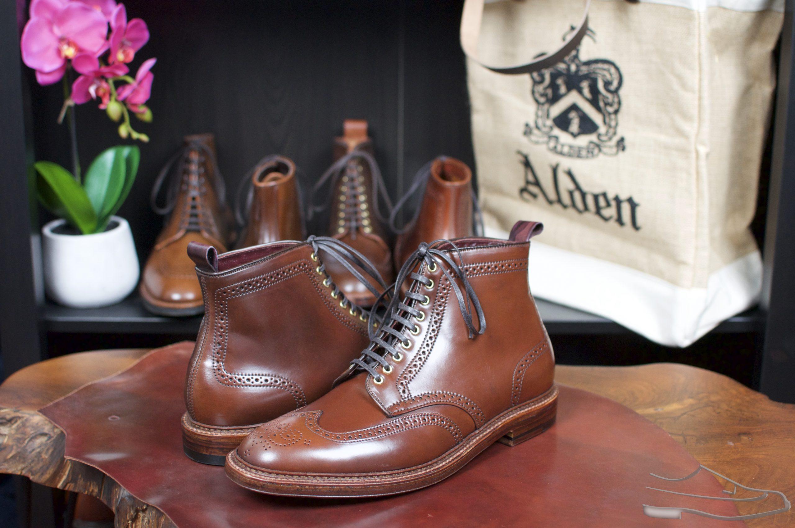 Alden x B+M Color #4 Wingtip Boots